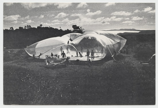 Ant Farm's Dream Cloud Inflation Atop Mount Vision at Point Reyes, California, February 1970 (Inflatables)